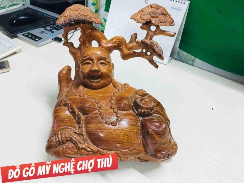 Tượng gỗ Phật Di Lặc để bàn