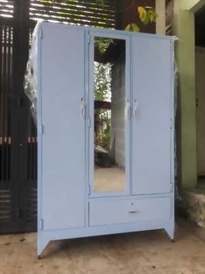 Tủ quần áo sắt sơn tĩnh điện 3 cánh 1800x1200x50mm