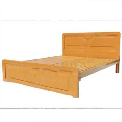 Giường sắt hộp giả gỗ 1m4