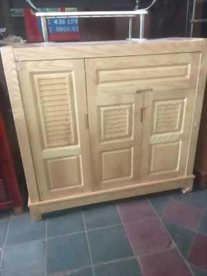 Thanh lý tủ giày gỗ 3 cánh