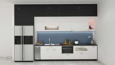 Những mẫu tủ bếp gam màu trắng thời thượng