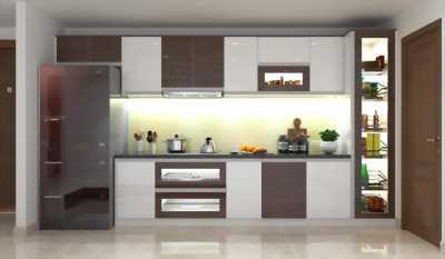 Mẫu tủ bếp thiết kế hiện đại, phá cách