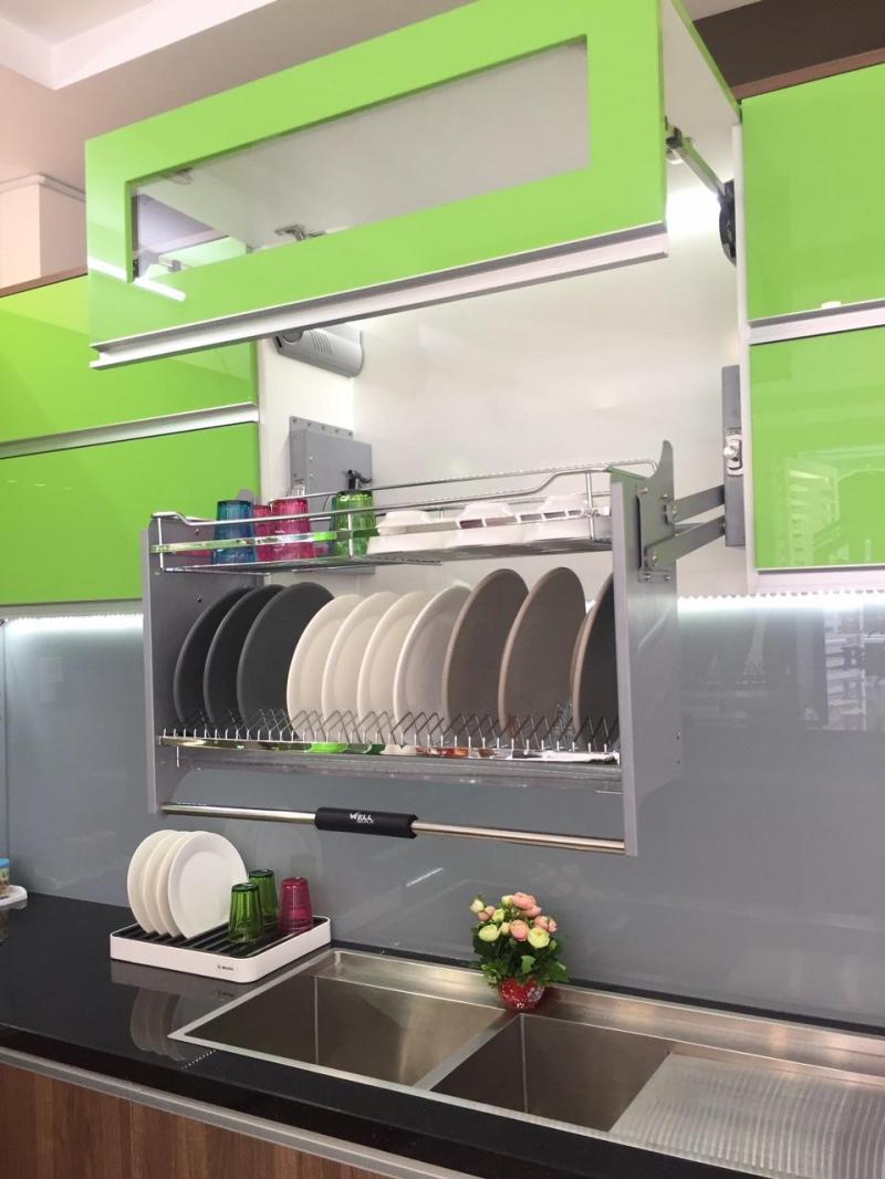 Phụ kiện tủ bếp: Kệ chén dĩa, kệ dụng cụ, khay chia muỗng thìa