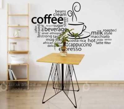 Bàn Ghế Cafe Khung sắt - Bàn Cafe Gỗ - Bàn Cafe Sắt Inox - Bàn Cafe Gỗ Sắt Hot Trend