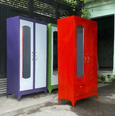Tủ sắt quần áo 1m8 giá tại xưởng, freeship HCM