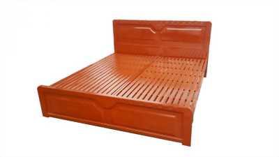 Giường sắt hộp giả gỗ 1m6