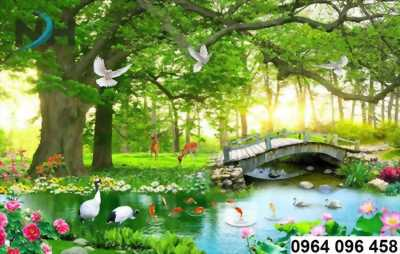 tranh gạch 3d rừng cây  thiên nhiên