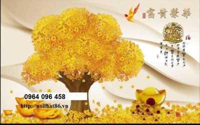 tranh cây tiền vàng