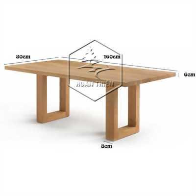 Bộ bàn ghế gỗ sồi Milan hiện đại