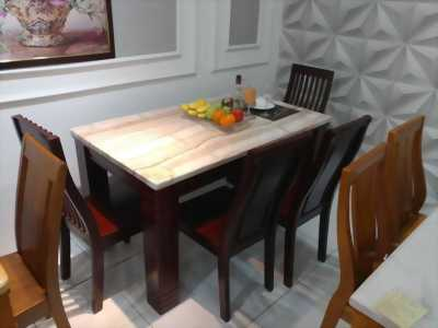 Bàn ăn mặt đá 6 ghế tại Nội Thất Đông Á
