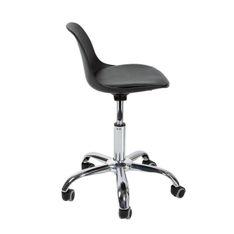 Ghế nệm chân xoay bánh xe GLM05D - Ghế tiệm nail, Salon tóc, Spa