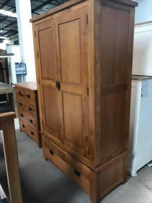 Thanh lý set phòng ngủ gỗ sồi mới 100%