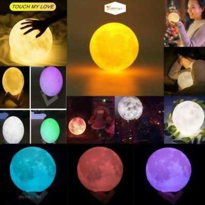 Đèn ngủ mặt trăng 3D sáng tạo Moon Light