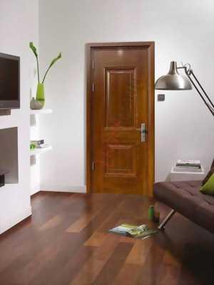 Cửa phòng ngủ sang trọng chất liệu thép vân gỗ DH Group 21.5