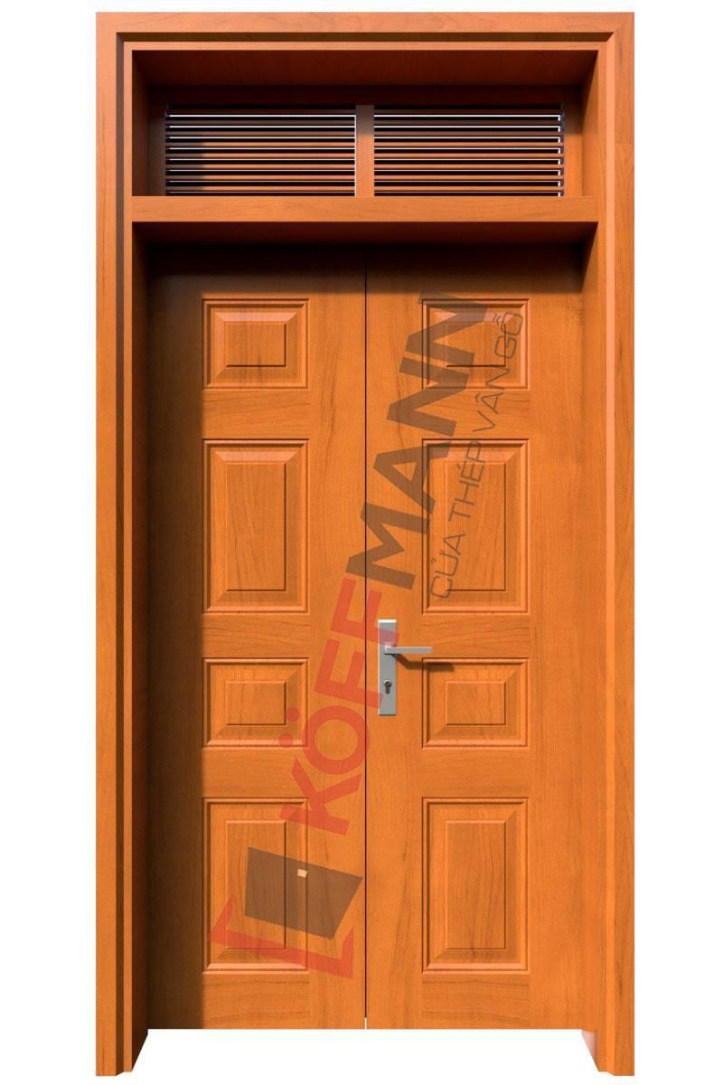 Cửa thép vân gỗ thách thức nắng nóng, không cong vênh 1.7