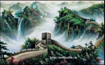 tranh núi - tranh gạch men phong cảnh núi