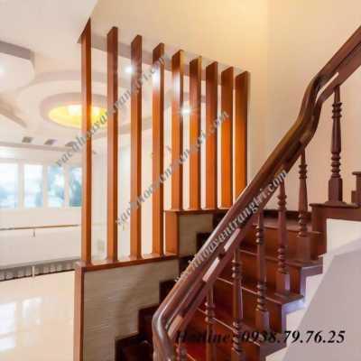 Lam gỗ dùng trang trí khu vực cầu thang đẹp tuyệt vời
