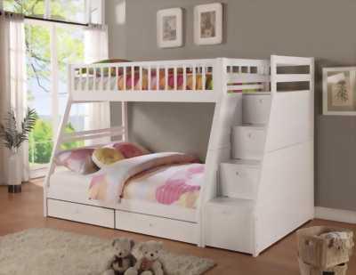 Giường tầng gỗ thông giá rẻ, an toàn cho bé