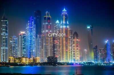 Tranh dán tường phong cảnh thành phố về đêm tuyệt đẹp