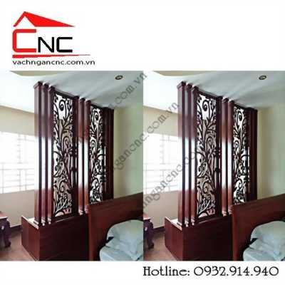 Gây sốt ngành nội thất với vách ngăn tủ kệ + lam gỗ cnc đẹp