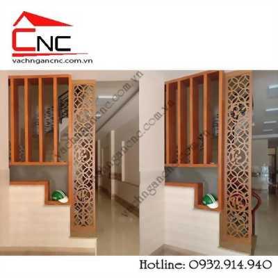 Dùng gỗ ván công nghiệp làm vách ngăn cnc trang trí đẹp