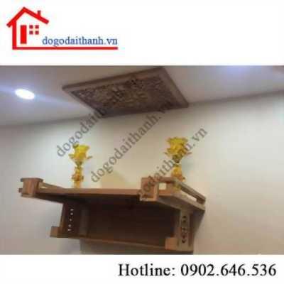 Xu hướng hot với bàn thờ treo tường bằng gỗ.