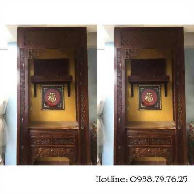 Hé lộ: Cách dùng vách ngăn gỗ cnc trang trí phòng thờ