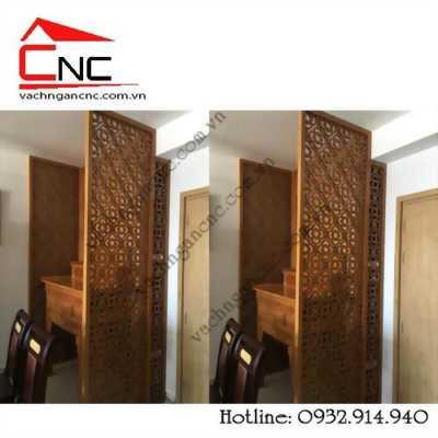 Vách ngăn trang trí bàn thờ bằng gỗ đẹp cho chung cư