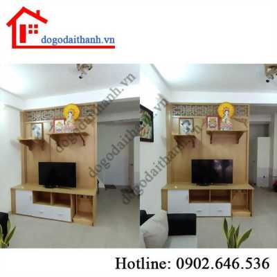 Thi công tủ ngăn tường, tủ ti vi quận Tân Bình