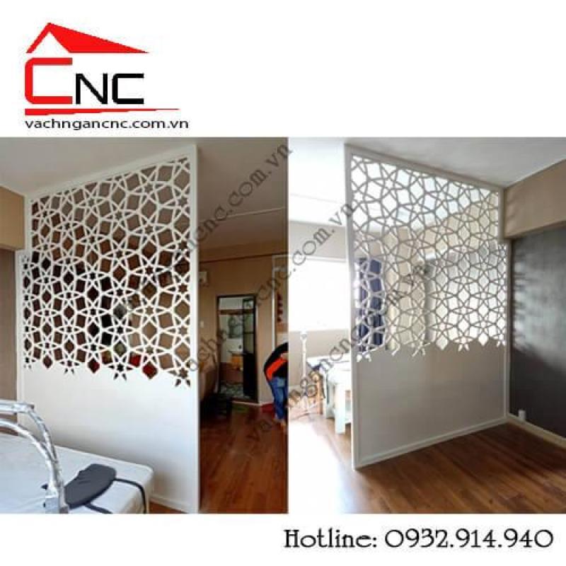 Vách ngăn cnc, tủ kệ phòng khách đẹp tại Phan Đăng Lưu