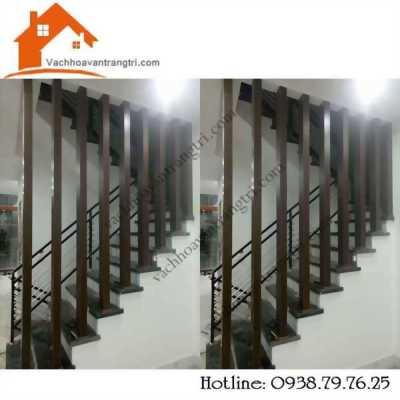 Lam gỗ trang trí cầu thang đẹp bằng gỗ mdf tại tphcm
