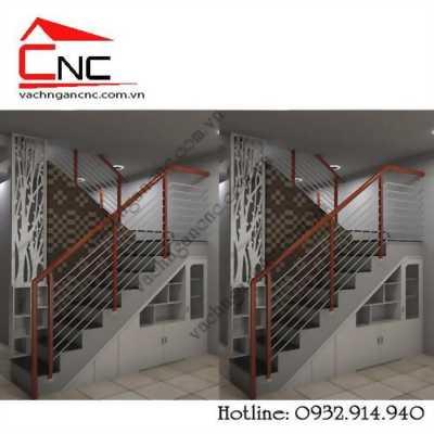 Hiện đại 2019 vách ngăn cầu thang với phòng khách đẹp