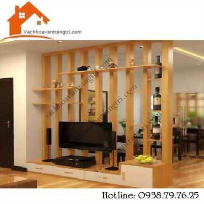 Nội thất phòng khách đẹp nhờ trang trí từ mẫu thanh lam gỗ