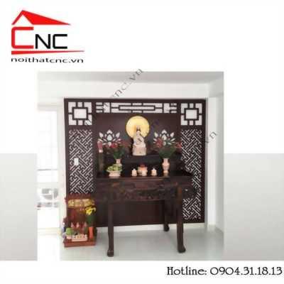 Ngăn phòng tiện lợi với vách ngăn phòng khách và phòng thờ.
