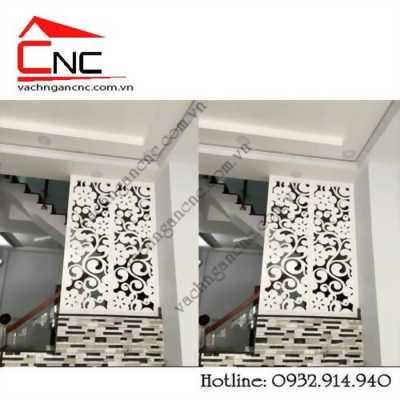 Quảng bá mẫu vách ngăn hoa văn  cầu thang với phòng khách đẹp