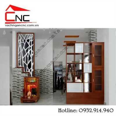Các mẫu vách ngăn phòng khách trang trí bằng gỗ MDF