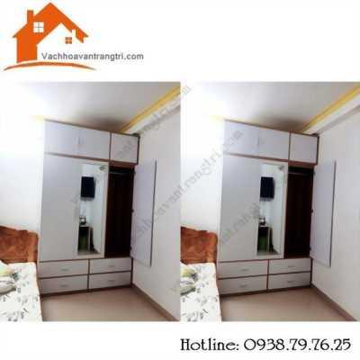 Thi công tủ kệ gỗ phòng khách và bếp tại Phan Văn Hớn