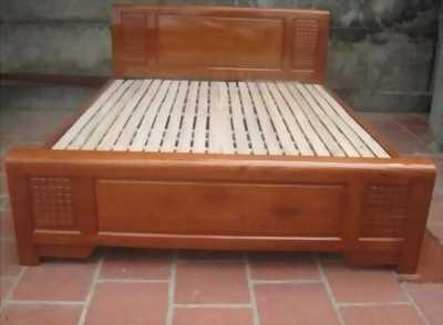 Giường gỗ giá rẻ 1m6 2m ,2tr4