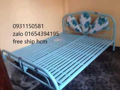 giường sắt 1m2