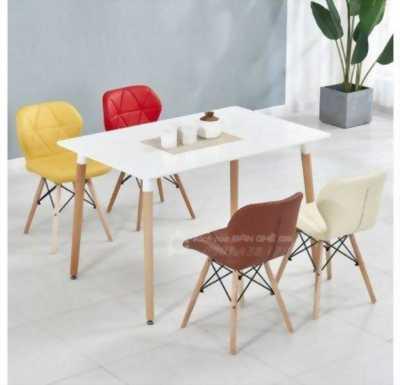 Bộ bàn 4 ghế nệm cánh bướm nhập khẩu - Combo bàn ghế nhà hàng, bàn ghế phòng ăn căn hộ cao cấp