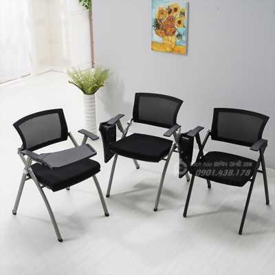 Ghế xếp văn phòng lưng lưới liền bàn GLMV19 - Ghế xếp liền bàn phòng hội nghị - Ghế văn phòng có bàn tiện lợi