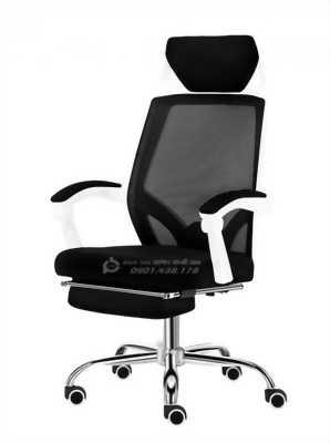 Ghế xoay văn phòng lưng lưới có gác chân và tựa đầu GLMV22 - Ghế văn phòng ngã lưng có gác chân