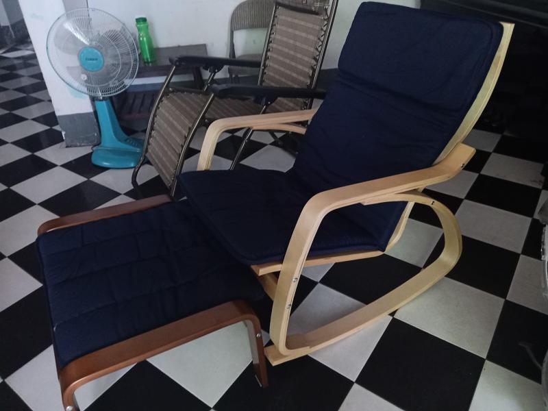 Ghế nằm đọc sách GLM101, ghế thư giãn, ghế ngồi xem tivi, ghế bập bênh cao cấp
