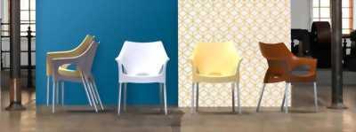 Ghế nhựa PP chân sắt sơn tĩnh điện GDT01 - Ghế cafe nhựa đúc cao cấp - Ghế nhựa nhập khẩu giá rẻ