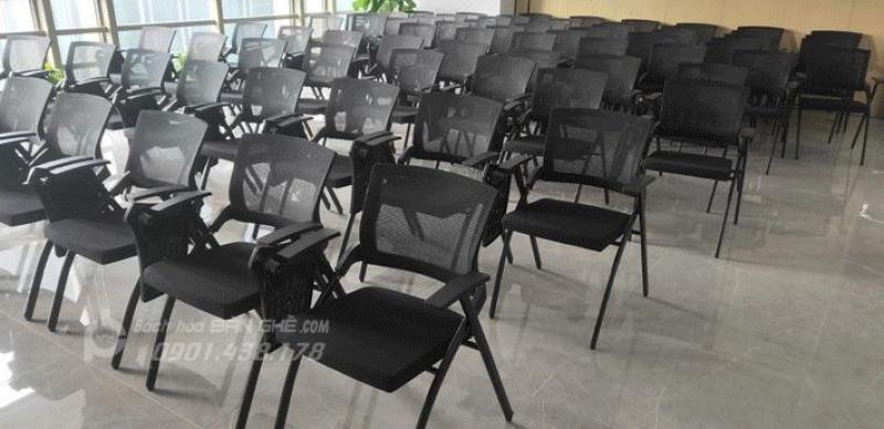 Ghế gấp liền bàn cao cấp, ghế gấp gọn phòng họp