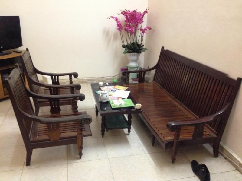 Bộ salon gỗ xịn