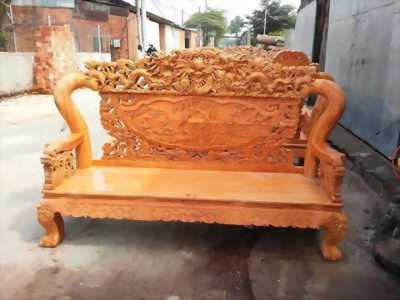 Salong phòng khách gỗ tự nhiên