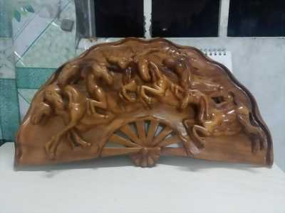 Quạt gỗ ngựa gỗ Gỏ đỏ