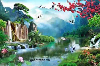 tranh gạch phong cảnh ốp tường trang trí