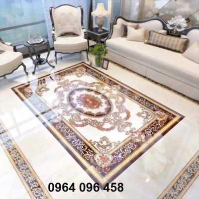 gạch thảm phòng khách hình chữ nhật